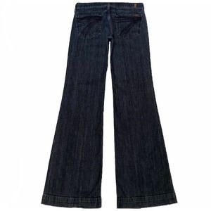 7 For All Mankind Dojo 28X34 Flare Long Blue Jeans